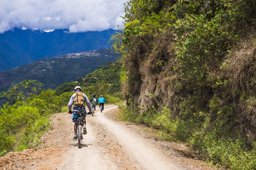 Cycling Death Road, La Paz Department, Bolivia, South America