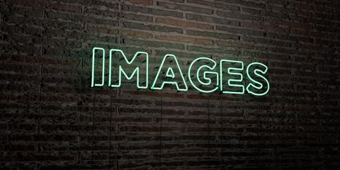 IMAGES -Realistic Neon Sign on Brick Wall background - 3D rendered royalty free stock image. Can be used for online banner ads and direct mailers..