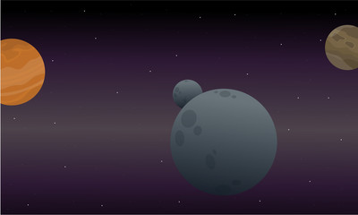 Landscape of outer space vector art