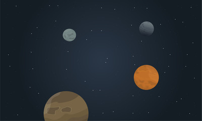 Vector art of space beautiful landscape