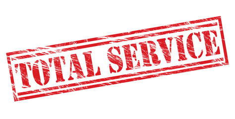 total service red stamp on white background