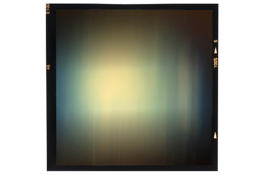 Middle format analog film frame abstract long exposure on white
