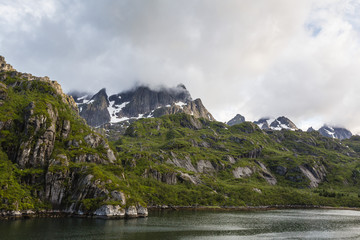 View of Trolfjord, Nordland, Norway, Scandinavia, Europe