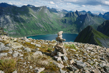 Panoramic View from Husfjellet Mountain on Senja Island