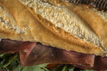 Dettaglio ingredienti panino.