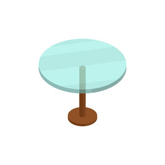 Table isometric  icon or logo for web design