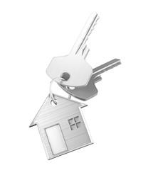 Chiavi di casa con portachiavi acciaio o legno