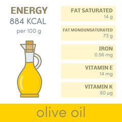 Olive oil vector infographic