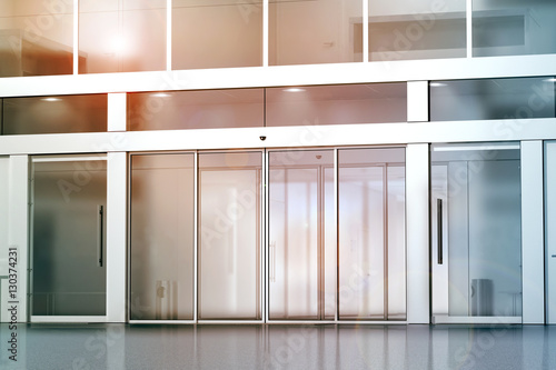 Blank Sliding Glass Doors Entrance Mockup 48d Rendering Commercial Magnificent Outdoor Commercial Furniture Exterior