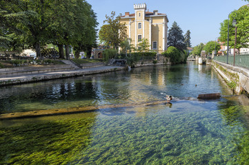 Waterways, L'Isle sur la Sorgue, Vaucluse, Provence Alpes Cote d'Azur region, France, Europe
