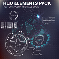 abstreact HUD background. Set of elements that can be used for Motion Design the space, the scientific and the fantastic theme