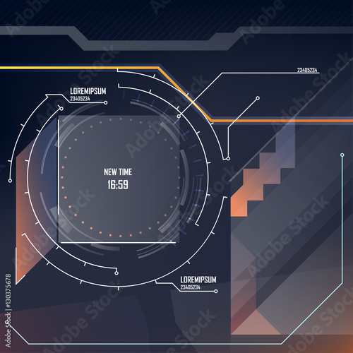 Motion Template for design - abstract HUD screensaver video