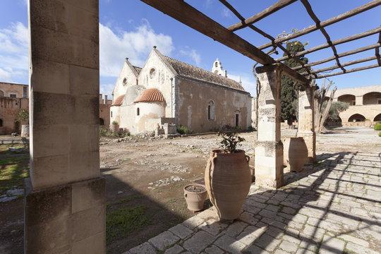 Moni Arkadi Monastery, Crete, Greek Islands, Greece