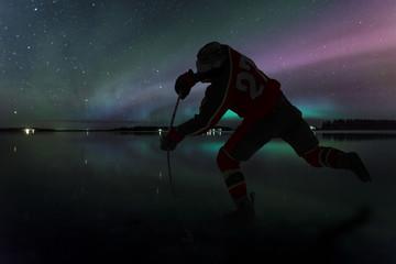 Ice Hockey Northern Lights