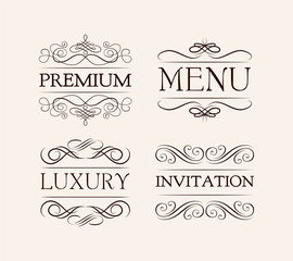 Vintage and filigree decoration. menu, luxury, premium, invitation.