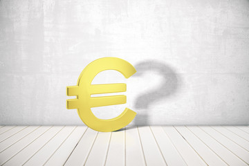 Euro sign with question mark