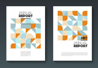 Vector annual report templates