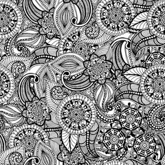 Seamless vintage freehand drawing pattern