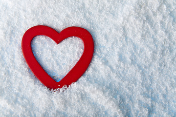 heart in to snow