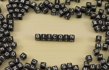 The concept of the word bitcoin