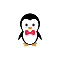cute penguin on a white background