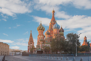 Red square,view of St. Basil's Cathedral