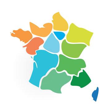 les 13 régions de France