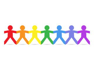 Paper People Rainbow