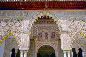 Alcazar Palace in Seville, Spain