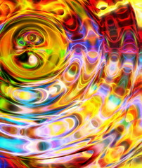 abstract multicolor background and color fractal effect. Water circle effect.