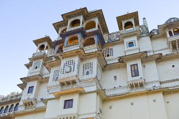 The City Palace of 76th Maharana of Mewar, His Highness, Shriji Arvind Singh Mewar of Udaipur, the Zenana Mahal, Rajasthan, India
