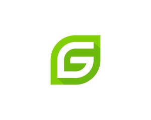 Letter G Green Logo Design Template Element