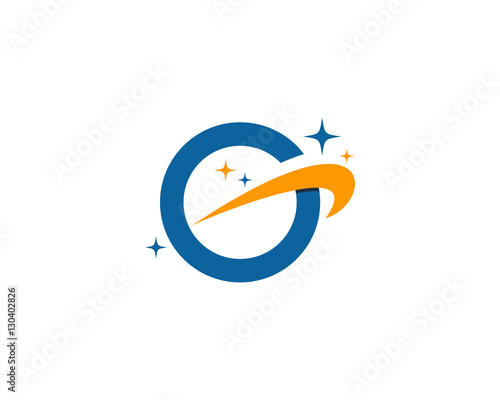 letter g galaxy logo design template element stock image and