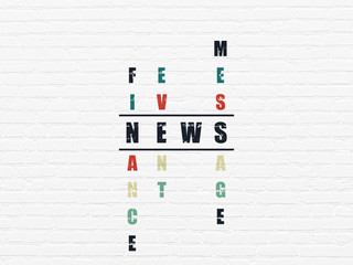 News concept: News in Crossword Puzzle