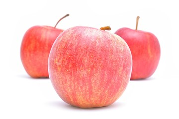Wall Mural - Red apple isolated on white background
