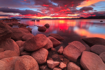Northe Lake Tahoe Sunset Wall mural