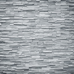 pattern of decorative black slate stone wall surface / black sto