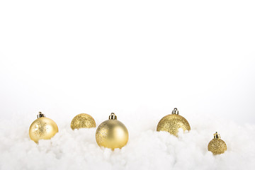 Gold Christmas decoration balls