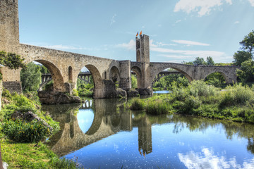 Medieval bridge of Besalu.