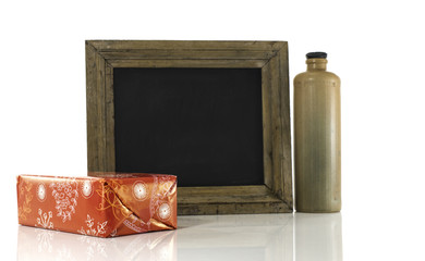 blackboard with present