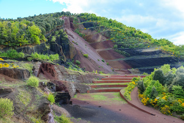 Old quarry on a volcano