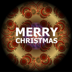 Beautiful text design of Merry Christmas on abstract background.