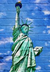 Art urbain, la statue de la liberté