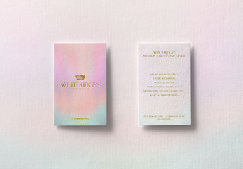 Two Luxury Business Cards with Gold Embossing Mockup 3