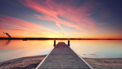 frei sein, Steg am See
