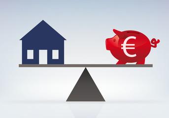 Maison - Achat - investissement - économie - emprunt