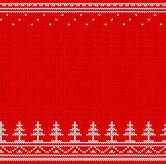 Red and white knitted jumper