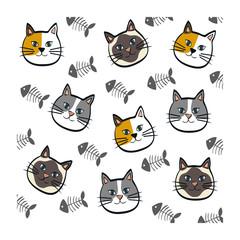Cute cat cartoon icon vector illustration graphic design