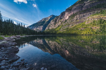 Wall Mural - Avalanche Lake, Glacier National Park, Montana, USA