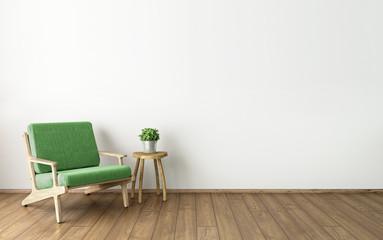 3d illustration of empty white interior